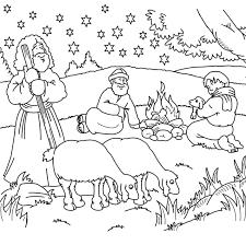 Kleurplaat Herders Kerst Christmas Nativities Bijbel
