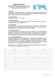Resume Worksheet Pre Resume Worksheet Therpgmovie 75