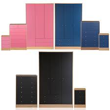 Malibu Bedroom Furniture Malibu Bedroom 3 Door Wardrobe7 Chest Of Drawers Amp Bedside