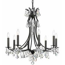crystorama lighting group cedar vibrant bronze eight light chandelier with clear swarovski strass crystal