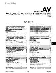 2004 infiniti qx56 audio visual system section av pdf manual 2004 infiniti qx56 audio visual system section av 158 pages