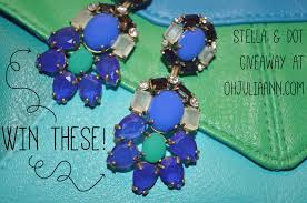 win a pair of stella dot peacock chandelier earrings valued at 69