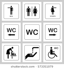 bathroom sign. Simple Sign WC  Toilet Door Plate Icons Set Men And Women Sign For Restroom With Bathroom Sign