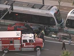 driver in serious condition after crashing into valley metro light rail abc15 arizona