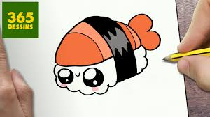 Comment Dessiner Sushi Kawaii Tape Par Tape Dessins Kawaii