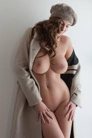 Connie Carter Nude Under a Coat Big Tits and Big Boobs at Boobie.