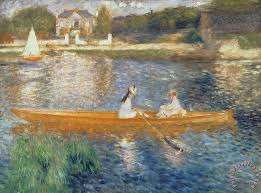 boating on the seine painting pierre auguste renoir boating on the seine art print