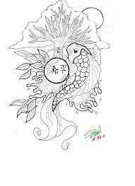 Small Picture Coloring Pages Koi Fish Art Coloring Page Free Printable Coloring