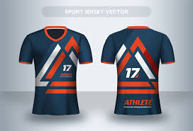 Football Shirt Designs Orange Geometric Football Jersey Design Template Download