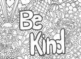 Small Picture Be kind adult coloring page kindness club Pinterest Adult