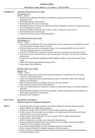 Construction Estimator Resume Sample Estimating Manager Resume Samples Velvet Jobs