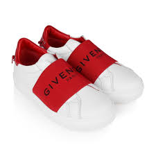 Red Designer Shoes Givenchy White Red Leather Sneakers Givenchy Girls