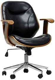 modern office chair. Brilliant Office Baxton Studio Rathburn Modern Office Chair WalnutBlack And Chair A