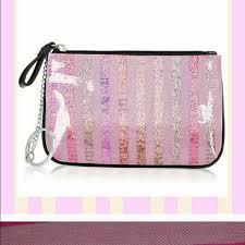 vs pink glitter pouch vs pink glitter pouch pink victoria s secret accessories