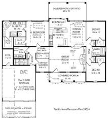 ranch style floor plans. View Of Porch Roof And Ceiling Details On Ranch Home From Plan 59024 Family Plans Style Floor S