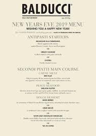 New Year Menu New Years Eve Menu Balducci