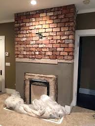 diy refacing brick fireplace with tile tiling a fresh over ideas of