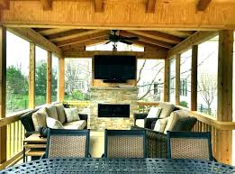 screened in porch fireplace ideas screened in porch with fireplace back porch fireplace brilliant porch ideas