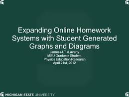 expanding online homework systems student generated graphs 1 expanding online homework systems student generated graphs and diagrams james j t laverty msu graduate student physics education research