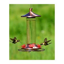 elegant copper glass hummingbird feeder