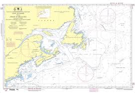 Nga Nautical Chart 109 Gulf Of Maine To Strait Of Belle Isle Including Gulf Of St Lawrence