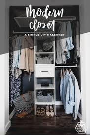 diy modern closet makeover