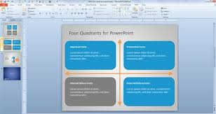 Powerpoint Quad Chart Template The Highest Quality