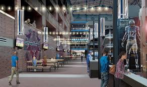 Renovation Warehouse Ford Field Stadium Renovation Architectural Design Rossetti