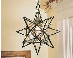 star shaped lighting. The Moravian Star Light Has A Total Of 18 Points. Each Point Contains Four Triangular Pieces Clear Glass. Metal An Antique Bronze Finish And Shaped Lighting L