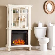 knox antique white electric fireplace curio