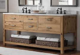 wood bathroom vanity. The Rest Of Our Bathroom Is Painted A Soft Vanilla And We Have White Subway Tile Tub Surround Hex Tiles On Floor. Wood Vanity N