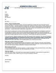 Insurance Cover Letter Example Cover Letter Example Letter