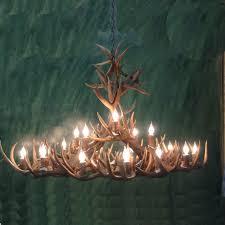peak large whitetail deer antler chandelier 18 light