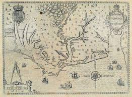 maps of the chesapeake captain john smith chesapeake national Map Of Voyage From England To Jamestown john white's 1590 map of the chesapeake and virginia England to Jamestown VA Map