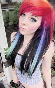 Emo Girl Hair Style rainbow haired girls emo girl ira vampira scene queen colorful 6456 by wearticles.com