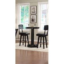 eci furniture three amigos 30 round pub table in black with no life guard on
