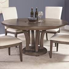contemporary inch round dining table with trestle base by