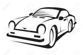 車の抽象的な白黒イラストのイラスト素材ベクタ Image 17092783