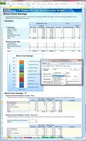 Savings Template It Project And Business Case Toolkit Cost Savings Benefits