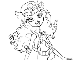 Small Picture Monster High Lagoona Blue coloring page Coloringcrewcom