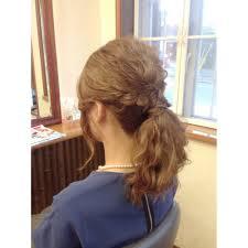 編み込みポニーテール Elfエルフのヘアスタイル 美容院美容室