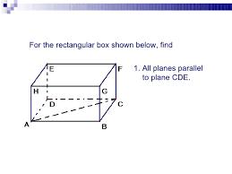 parallel planes. 12. parallel planes