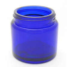 Boston Round Cobalt Blue Jar