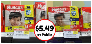 here s a can t miss deal for all you guys with little ones super huggies snug dry diapers at publix the diapers have a new lower and with