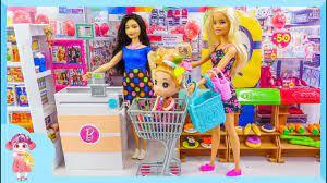 Búp bê Barbie đi siêu thị | H1295Z Búp bê Chibi - YouTube