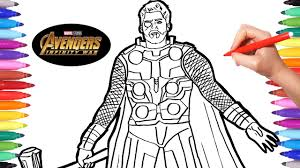 Avengers Infinity War Thor Avengers Coloring Pages Watch How To
