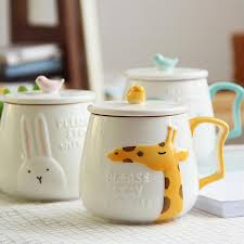 cute mugs online. Wonderful Cute Wholesale Cute Animals Style Stereo Ceramic Mugs Creative Moring Mug Milk  Or Coffee Unique Sh188 Photo Printed Printing From Bdhome  For Online