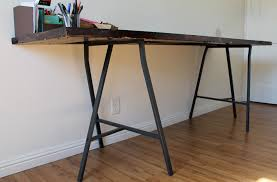 Groovy Diy Door Desk Table Life La Mode in Ikea Desk Legs