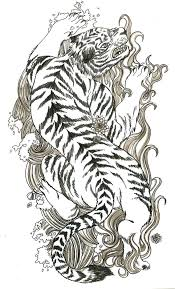 japanese tiger tattoo drawing. Contemporary Drawing Traditional Japanese Tiger Tattoo Design And Drawing P