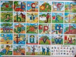 Letterland Chart Vintage Letterland Alphabet Posters Nursery School